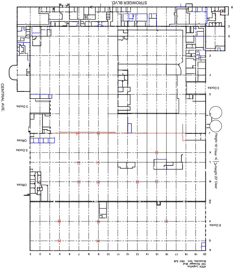 eastern ontario warehouse space diagram